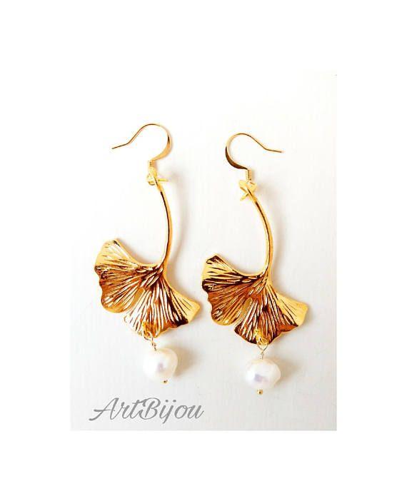 Mira este artículo en mi tienda de Etsy: https://www.etsy.com/es/listing/568549393/pendientes-oro-pendientes-perlas