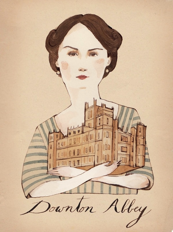 Illustrated Mary - Downton Abbey: Downtonabbey, Picture-Black Posters, Kelsey Garriti Riley, Illustrations, Seasons, Downtown Abbey, Posters Ideas, Downton Abbey, Lady Mary