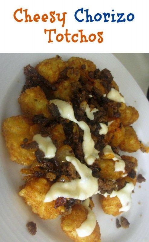 Cheesy Chorizo Totchos tater tot nachos. Combine jalapeno cream cheese ...