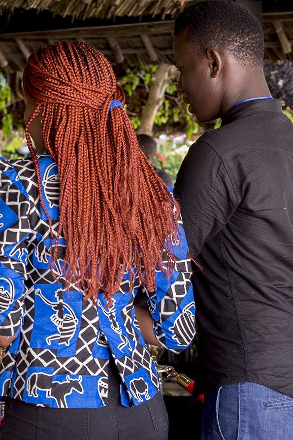 Black and blue traditional African symbol print looks really cool with these…