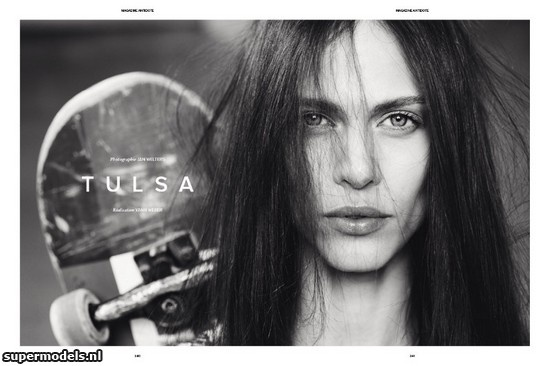 Aymeline Valade in 'Tulsa' - Photographed by Jan Welters (Antidote #3 Spring/Summer 2012)    Complete shoot after the click...