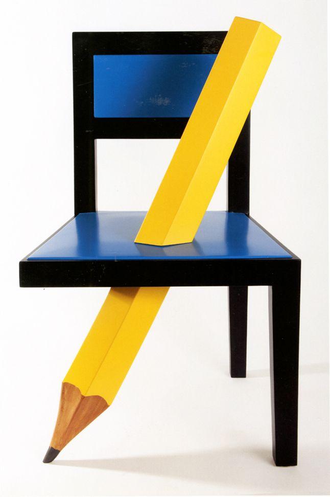 Armando Testa, Sedia con matita, 1972