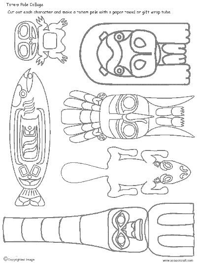 We've been learning about the art of totem poles carved by the people of The Haida Nation. The Haida are an indigenous nation of the Pacific Northwest Coast and their main home is Haida Gwaii, an archipelago off the coast of British Columbia. Totem poles from this region were usually made from western red cedar trees. The symbolism of traditional totemic art varies but typically portray stories of family legends and notable events. Here's a quick lesson on how to design your own totem pole…