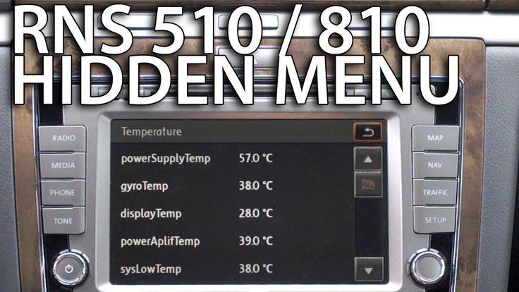 How to enter hidden service menu in #RNS510 #RNS810 testmode #Volkswagen #Skoda #SEAT #Phaeton #cars