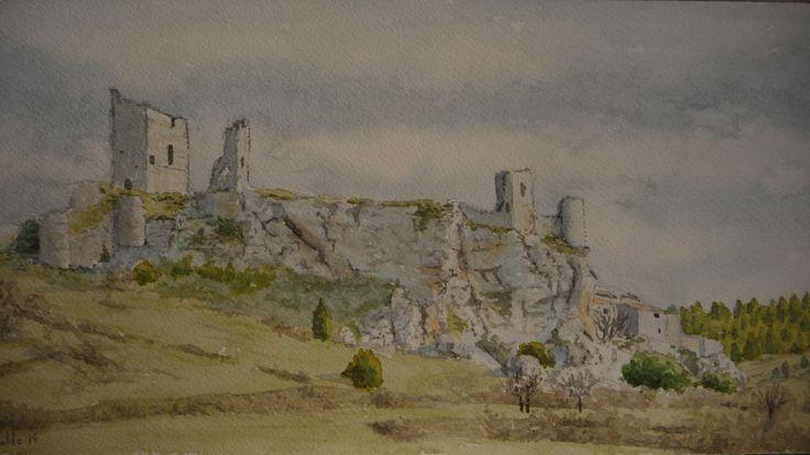 Castillo de Calatañazor (Soria)  Acuarela