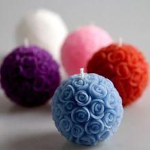 4 pcs mariage de bougies décoratives romantique bal de la rose fleur bougie pour la fête d'anniversaire faveurs de mariage et cadeaux fournitures de mariage(China (Mainland))