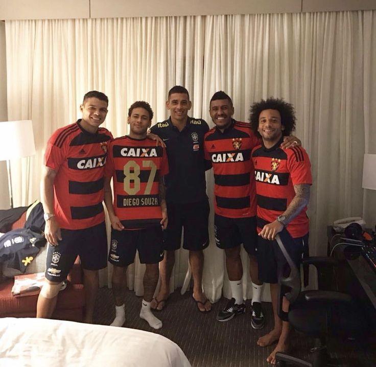 Diego Souza 'contrata' Neymar, Thiago Silva, Paulinho e Marcelo para o Sport  #globoesporte