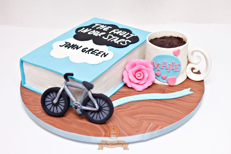 The Fault In Our Stars book cake - The Fault In Our Stars (TFIOS) book cake, ordered as a surprise gift by the boyfriend to his girlfriend. Birthday girl loves books and her favorite is TFIOS. Made us want to watch the movie and read the book, as well.