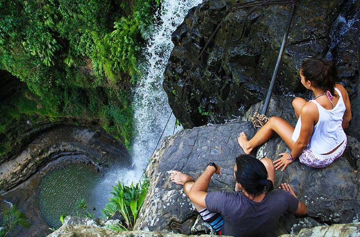 Juan Curi cascada vista en el borde