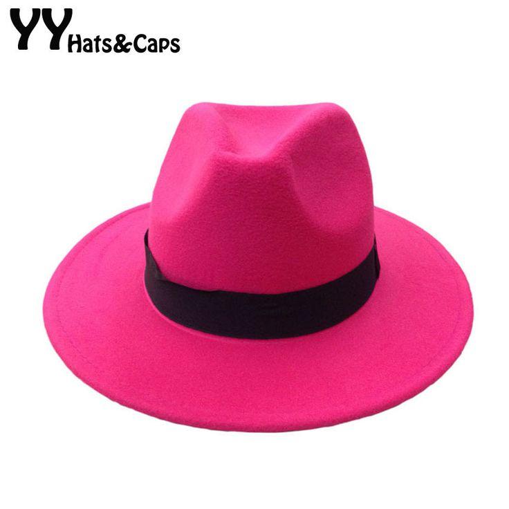 Autumn Winter Wool Fedoras Hats for Men Women Vintage Felt Trilby Warm Wool Jazz Hat Panama Caps 14 colors YY0398