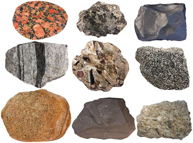 Common rocks in the crust for Mineral soil definition