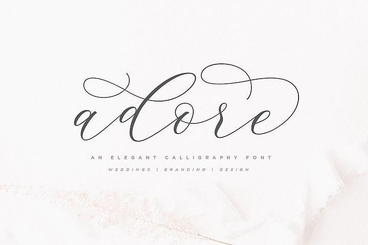 Adore Calligraphy Font   Calligraphy Font   Calligraphy
