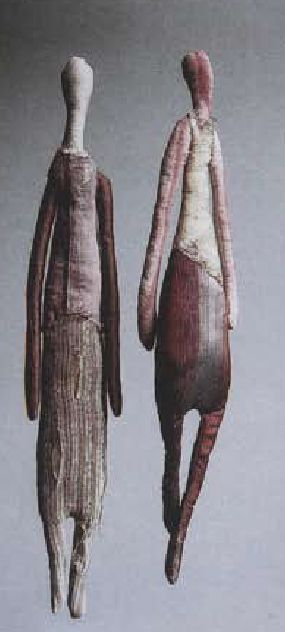 Manon Gignoux (Textile Sculptures)........ Her story is fascinating and her designs are world renown. AND, WE OWN ONE OF HER SMALL 'DOLLS'.