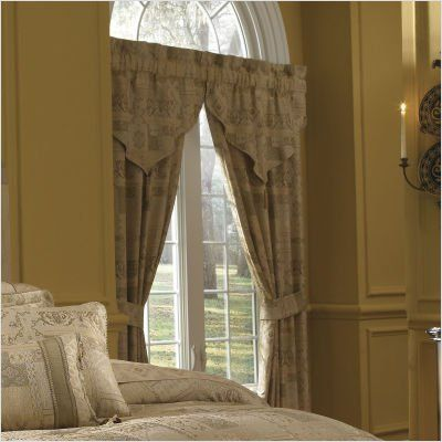 Croscill Home Matador Pole Top Drapery, Beige by Croscill. $94.77. This lavish intricate jacquard in champagne and muted gold creates a soothing motif with a regal feel. Pole top panel measures 41-Inch by 84-Inch. Face fabric 100-percent polyeste back 65-percent polyester and 35-percent cotton. Pole top lined drapery panels will complete your look. Dry clean only. This lavish intricate jacquard in champagne and muted gold creates a soothing motif with a regal feel. Matador's co...