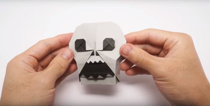 Check Out This Awesome Origami Skull Timelapse by Jo Nakashima