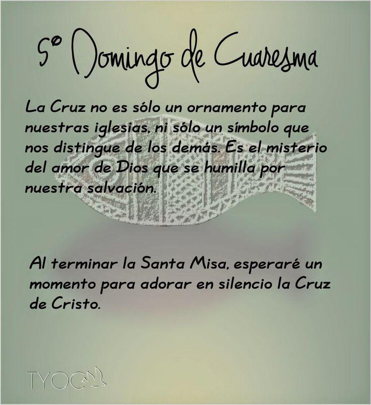 MIS PROPÓSITOS : 5° DOMINGO DE CUARESMA
