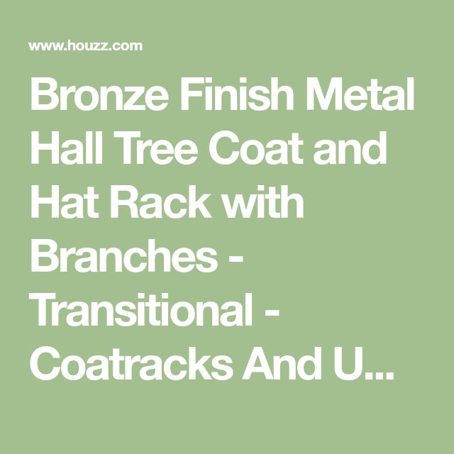 Bronze Finish Metal Hall Tree Coat and Hat Rack with Branches - Transitional - Coatracks And Umbrella Stands - by Pilaster Designs