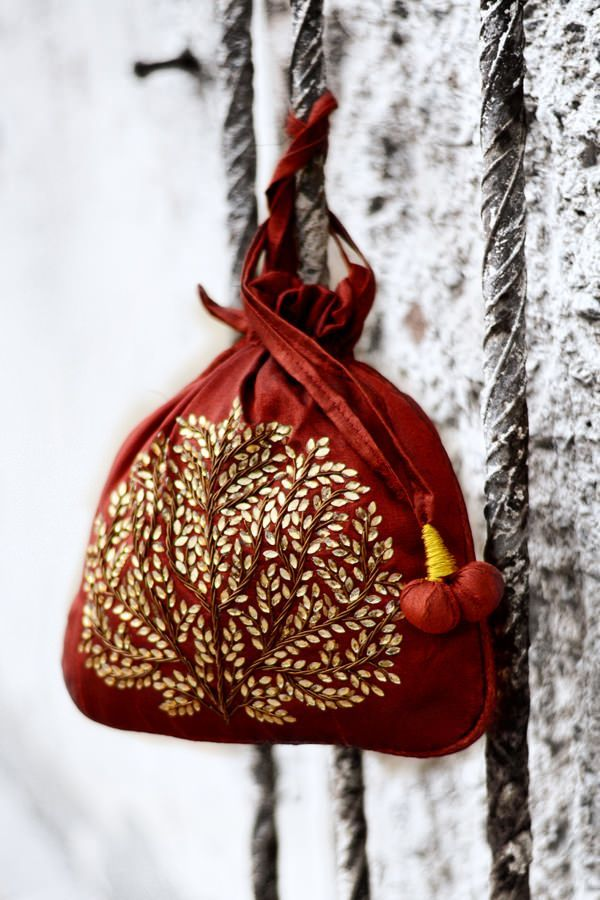 Traditional potli bags for dressy evenings from Fabindia!