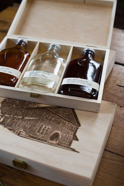 Kings County #Whiskey Gift Set.  This gift set of Kings County Whiskies, which includes a decorative box, makes the perfect #holiday #gift. | @Caskers