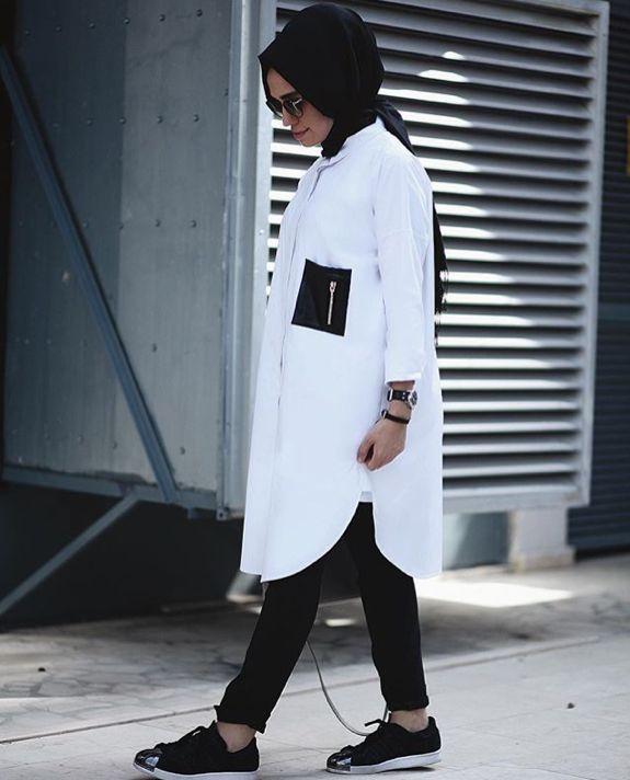 Hijab Fashion 2016/2017: Sélection de looks tendances spécial voilées Look Descreption Hulya Aslan