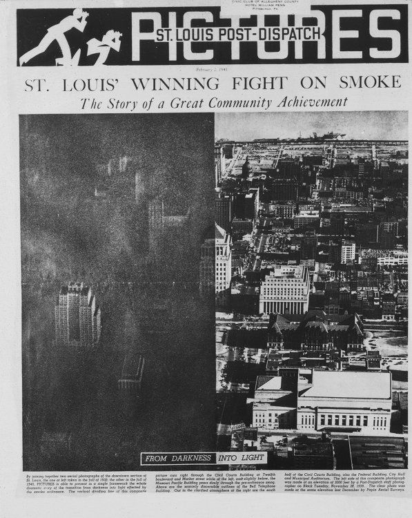 Before & After Air Quality Regulations St Louis 1940s