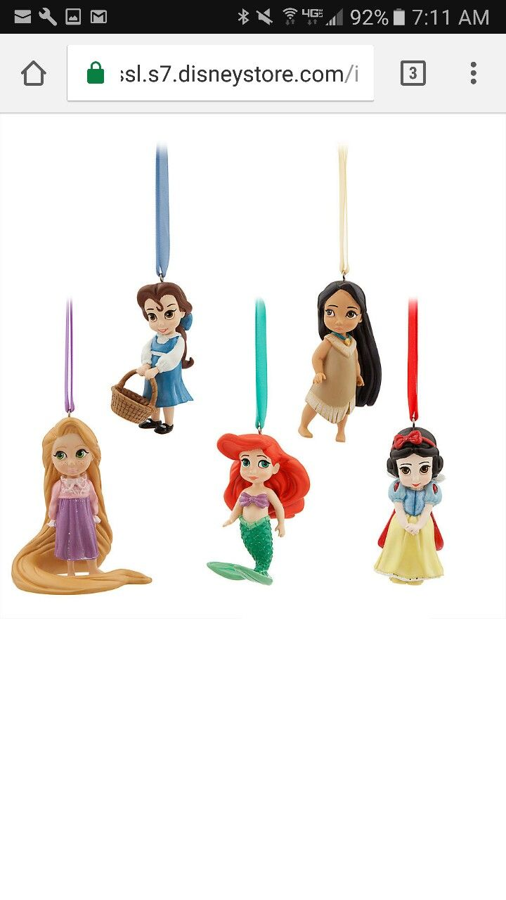 Disney ornament sets -  Young At Heart Inspired By Our Popular Toddler Dolls From The Disney Animators Collection Comes This Fully Sculptured Boxed Set Of Five Figural Ornaments
