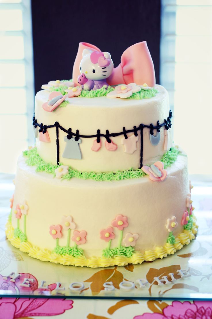 Love The Topper, And Love The Clothesline For A Baby Shower Cake.