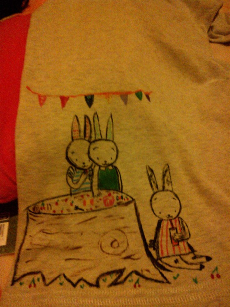 Rabbits cute...like new, old shirt...