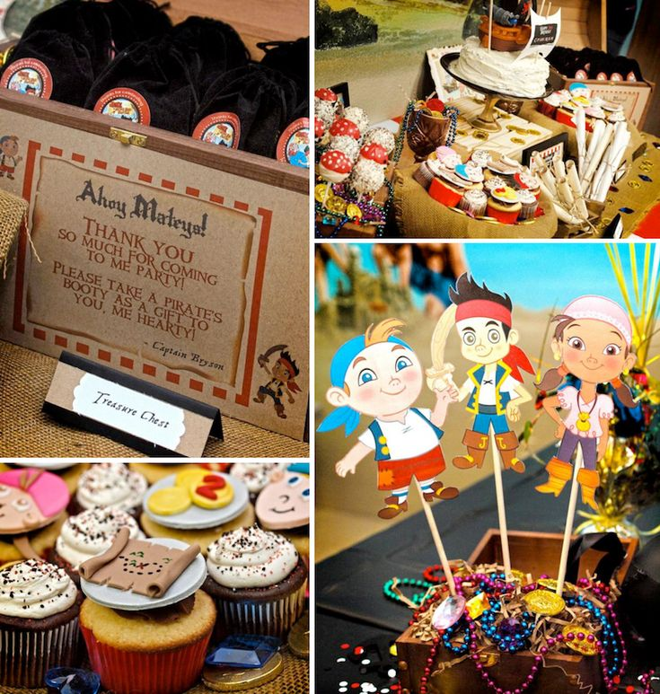 Jake and the neverland pirates themed birthday party via Kara's Party Ideas
