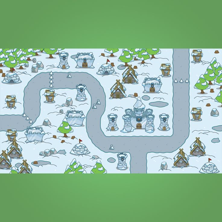 Snowy Top-Down Game Tileset