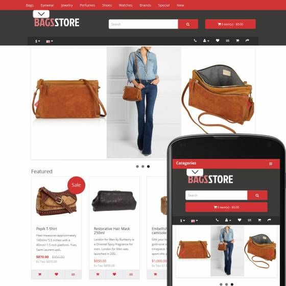 OpenCart Theme Street Bags Ruby