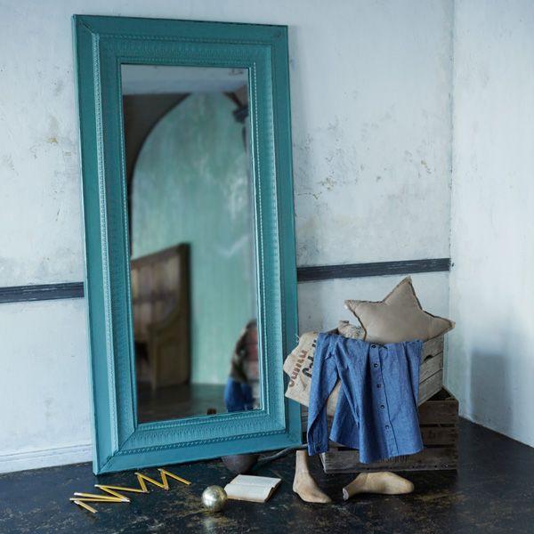 アイアンミラー・ターコイズ/L     家具,ミラー   Orne de Feuilles