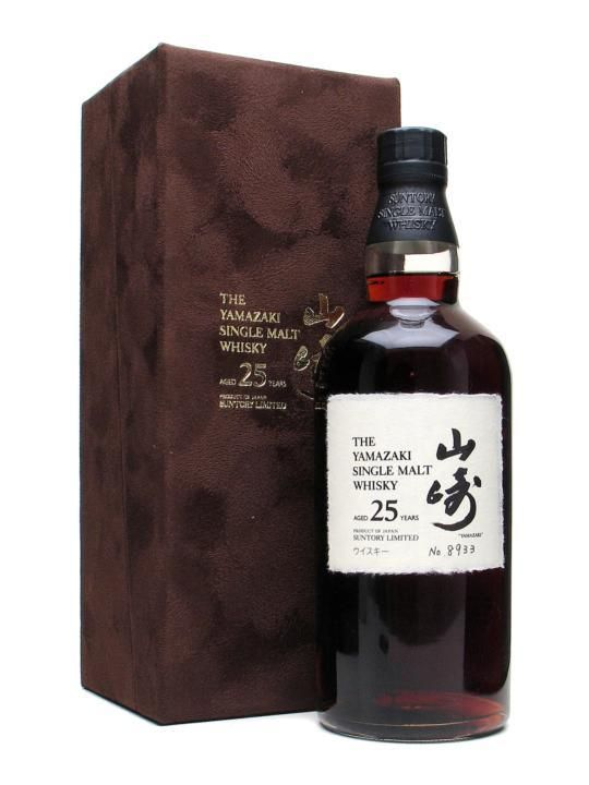 Suntory Yamazaki 25 Year Old | Sherry Cask 70cl | 43%. The incredibly dark colour would suggest that this is from an outstanding Oloroso cask. | World Whiskies Awards 2012 - Best Single Malt Whisky and Best Japanese Single Malt Whisky and Best Japanese 21 years and over