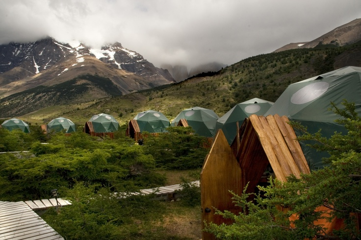 EcoCamp has 13 Standard domes, connected to Community Domes via wooden walkways http://www.ecocamp.travel/Domes/Standard