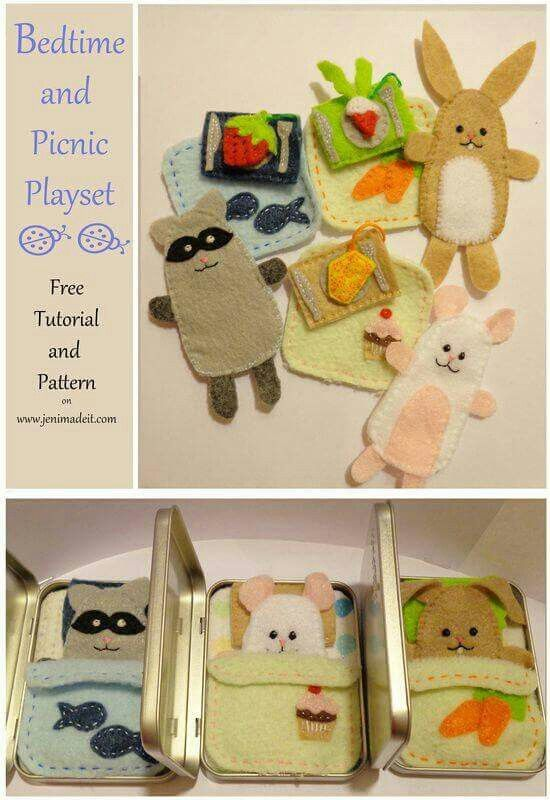 Bed time and picnic playset