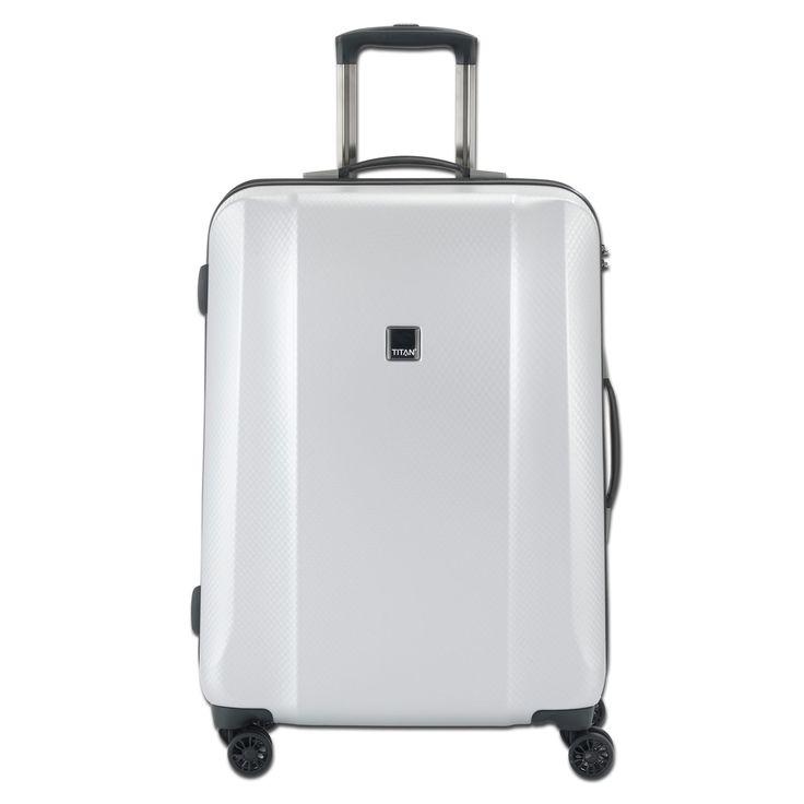 Mittlerer #Reisekoffer TITAN Xenon Deluxe bei Koffermarkt: ✓silber ✓4 Rollen ✓80 l Volumen ✓Maße: 67x46x28 cm