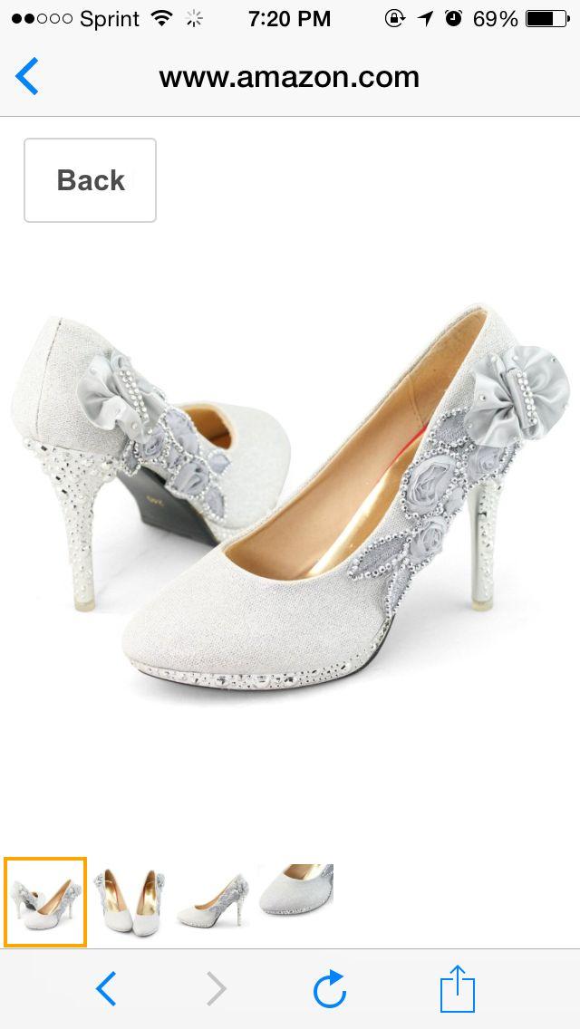 Glitter Heel Pumps Rhinestones Platform Shoes For Wedding