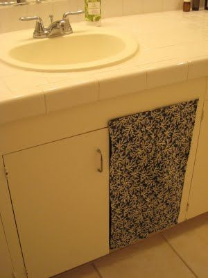 Simply Fun Stuff: How to Hide a Litter Box - except using cloth that blends in and both doors