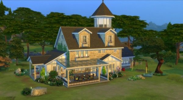 Sims Artists The Old Lighthouse Sims House Sims 4 House Design Sims 4 House Plans