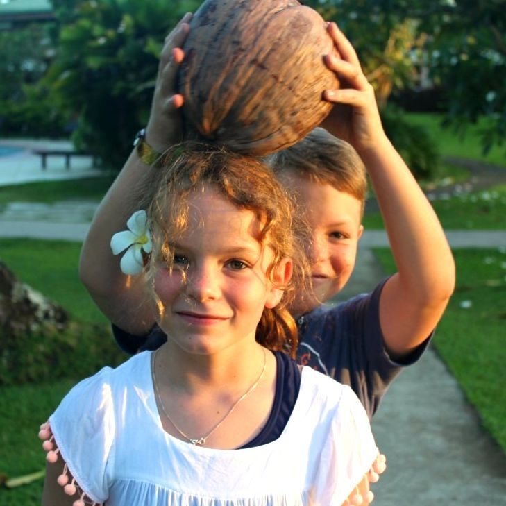 My two little crazy coconuts on Chrismtas Day in Fiji.  Love these two with all my heart.
