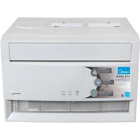 Midea WWK08CW71E 8,000-Btu Window Air Conditioner with WiFi and Remote Control , White