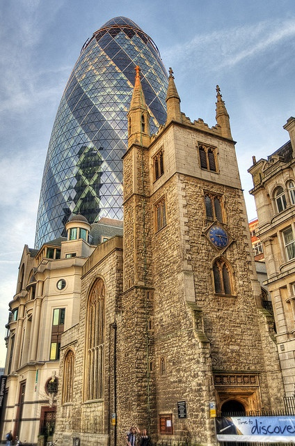 St Andrew Undershaft - Located on Leadenhall Street, St Andrew Undershaft sits in the shadow of the Gherkin, within the City of London.  Bishopsgate, London, England, UK