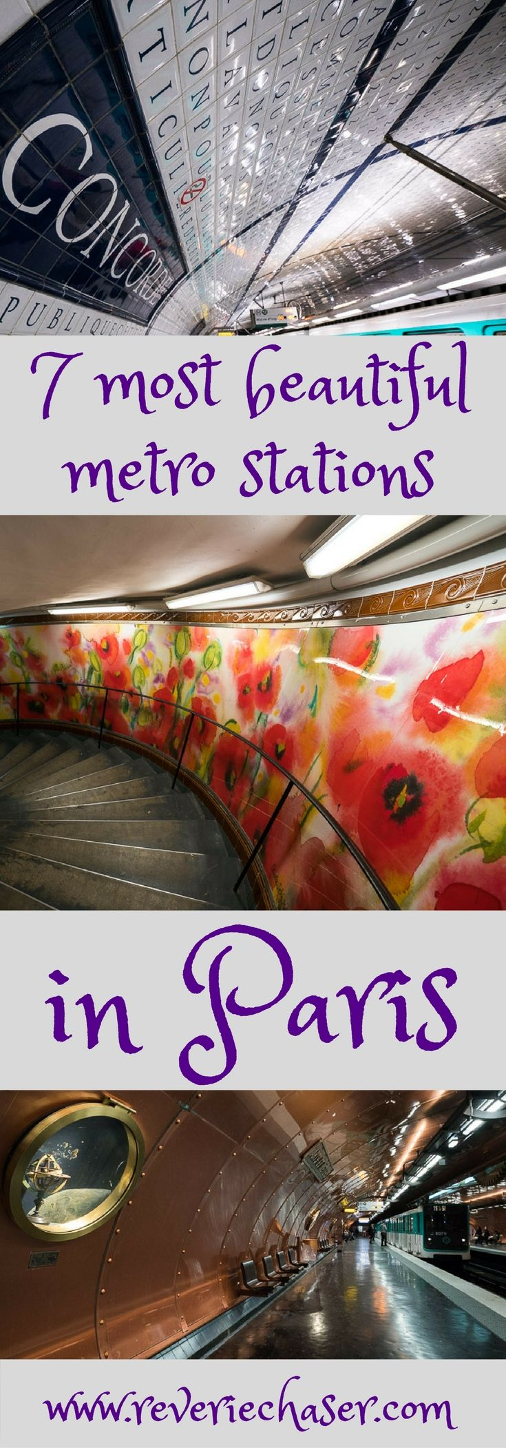 The most beautiful stations in Paris not to be missed - Concorde, HÔTEL DE VILLE, LOUVRE RIVOLI, BASTILLE, ABBESSES, ARTS ET METIERS, CITÉ. Don't miss the beautiful French art underground, as even subway can be beautiful!