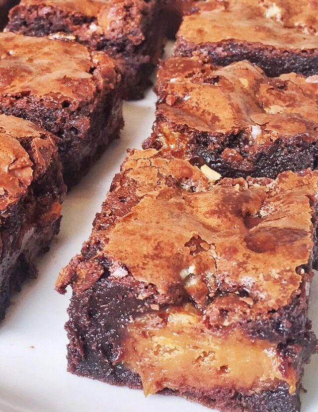 Brownies recheados com brigadeiro de doce de leite