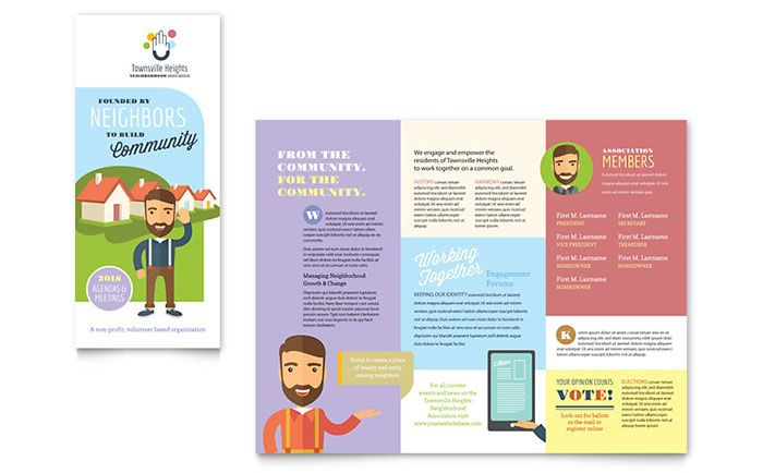 Create your own brochure for your neighborhood association with - pamphlet layout template