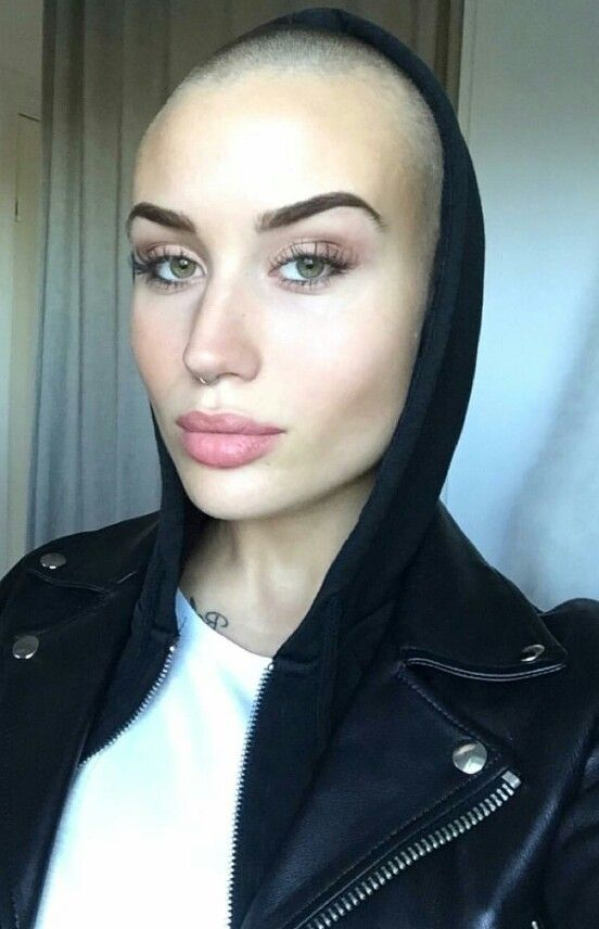 bald sexy woman