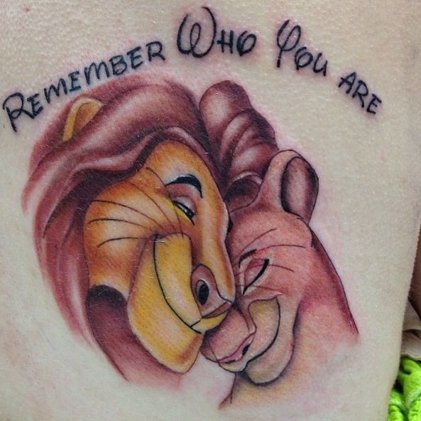 Lion king remember who you are tattoo tattoosss pinterest for Remember who you are tattoo