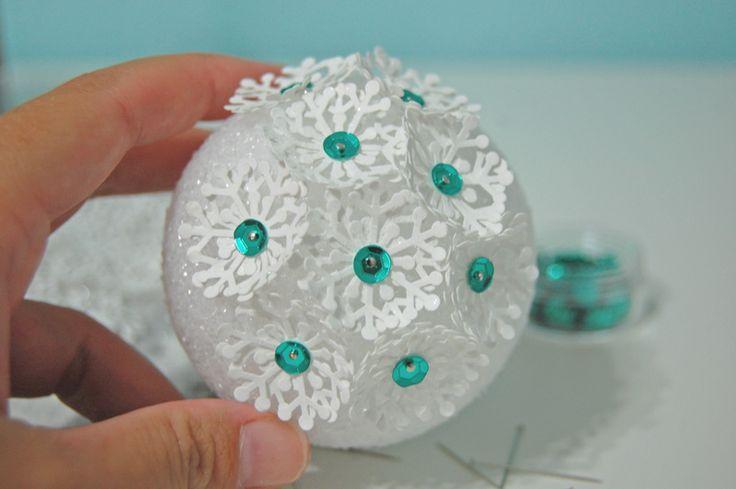 how to make a snowflake christmas ornament | diy