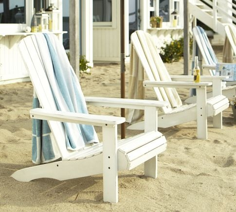 Love to sit in these adirondack chairs looking out at the ocean or lake