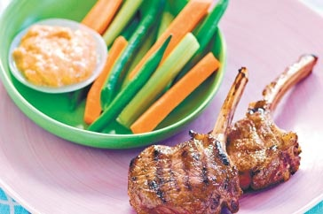 Asian lamb cutlets with peanut sauce main image